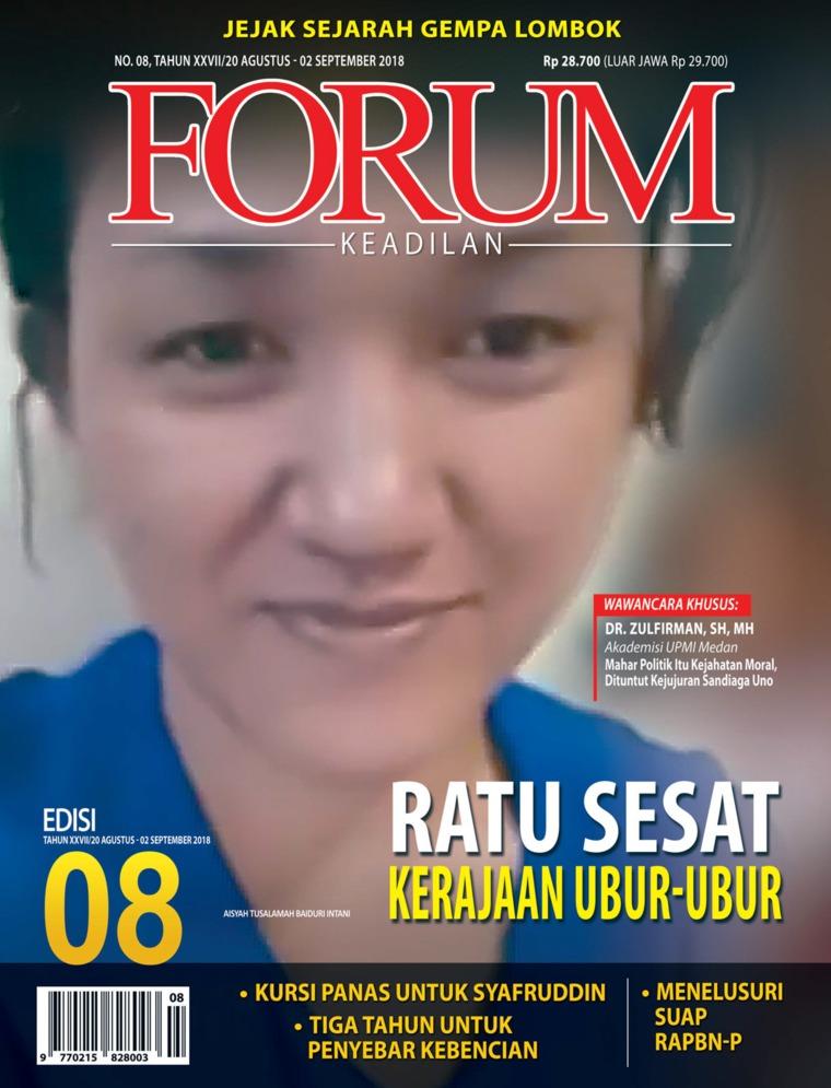 Majalah Digital Forum Keadilan ED 08 Agustus 2018
