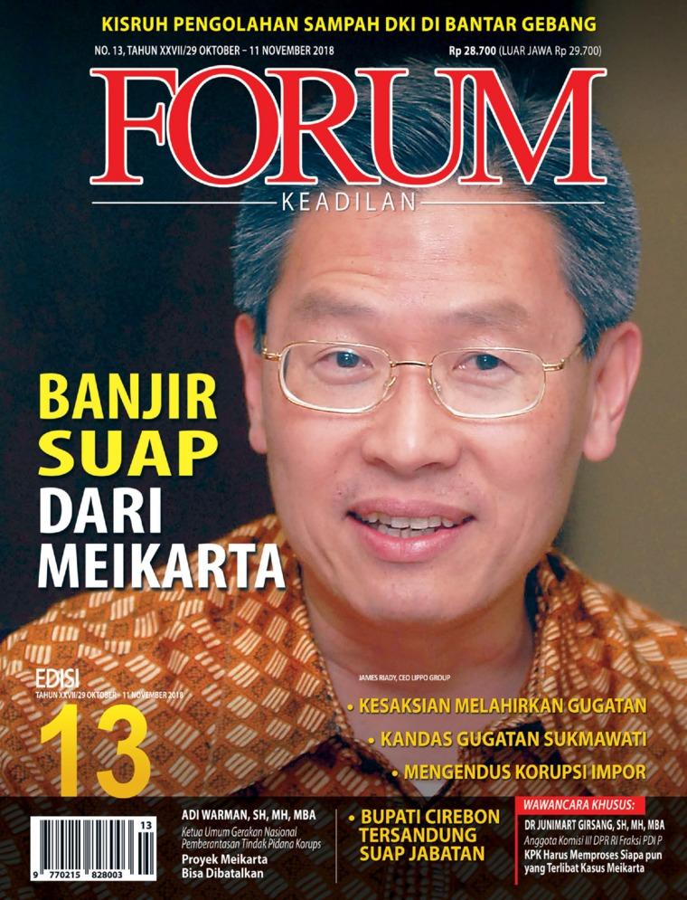 Majalah Digital Forum Keadilan ED 13 Oktober 2018