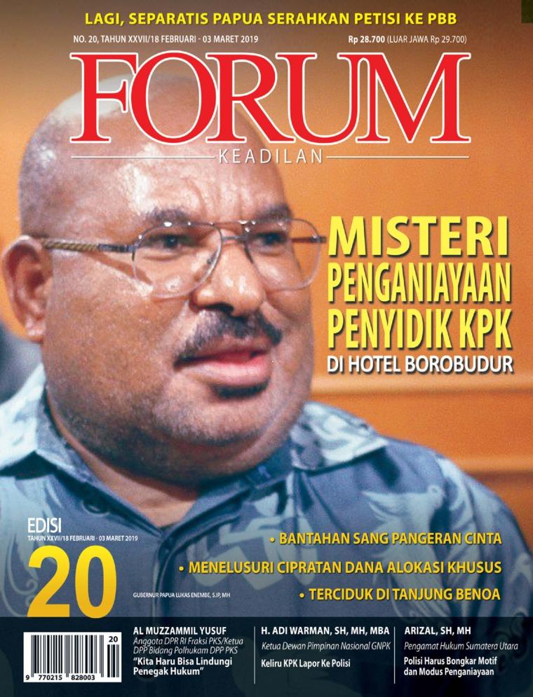 Majalah Digital Forum Keadilan ED 20 Februari 2019