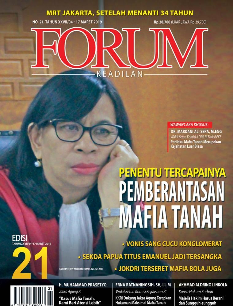 Majalah Digital Forum Keadilan ED 21 Maret 2019