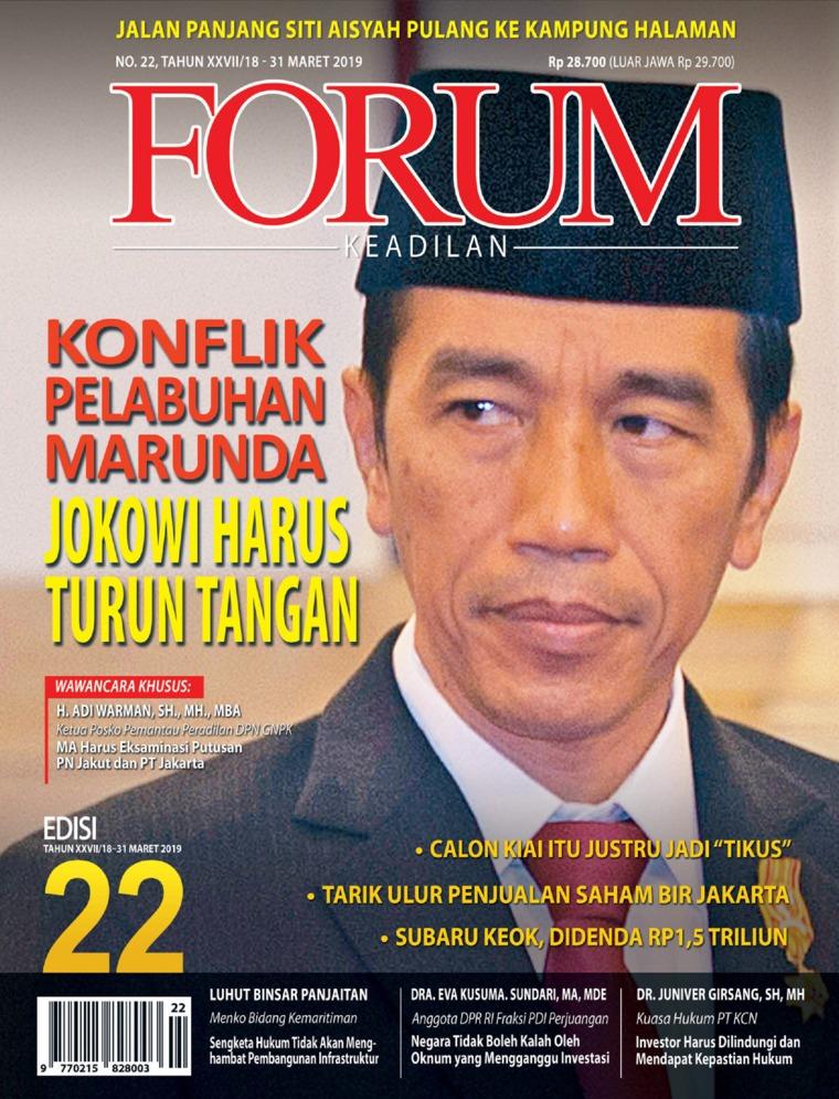 Majalah Digital Forum Keadilan ED 22 Maret 2019