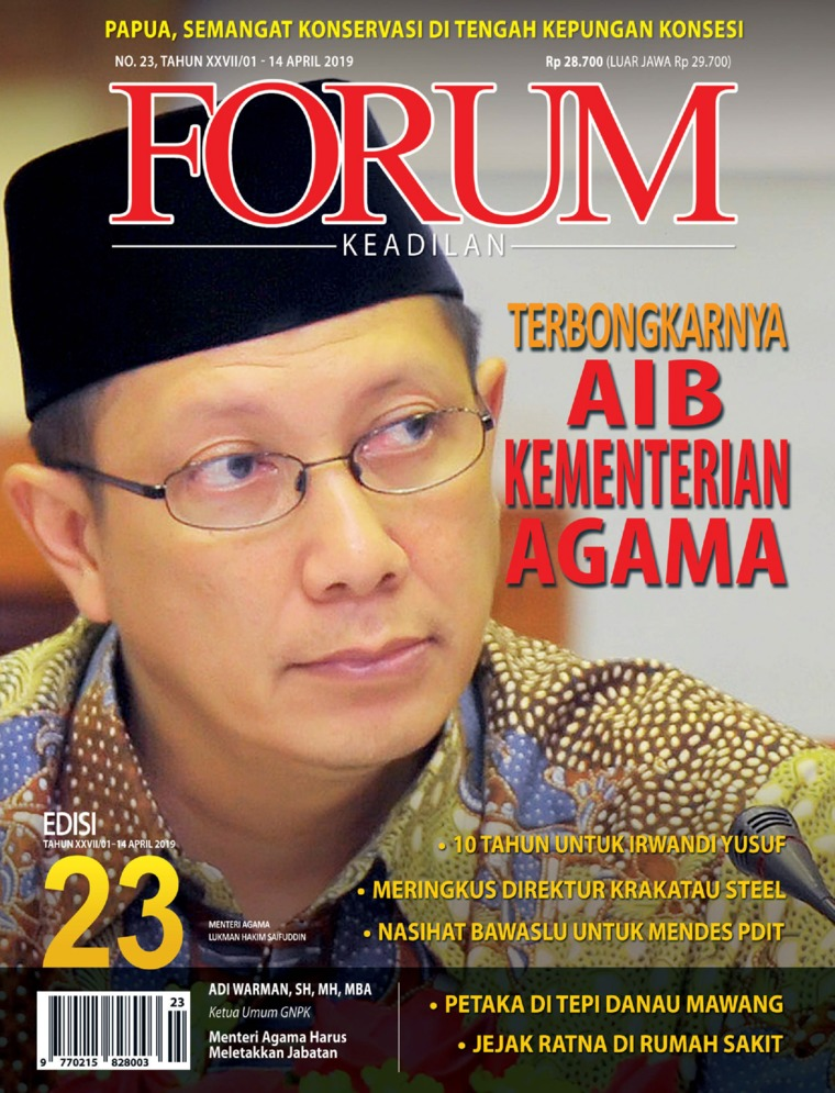 Forum Keadilan Digital Magazine ED 23 April 2019