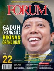 Cover Majalah Forum Keadilan ED 22 Februari 2018