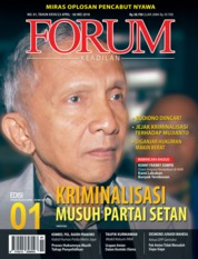 Cover Majalah Forum Keadilan ED 01 April 2018