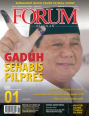 Cover Majalah Forum Keadilan ED 01 April 2019