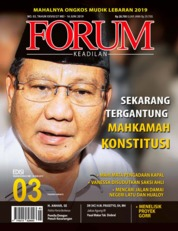 Forum Keadilan Magazine Cover ED 03 May 2019