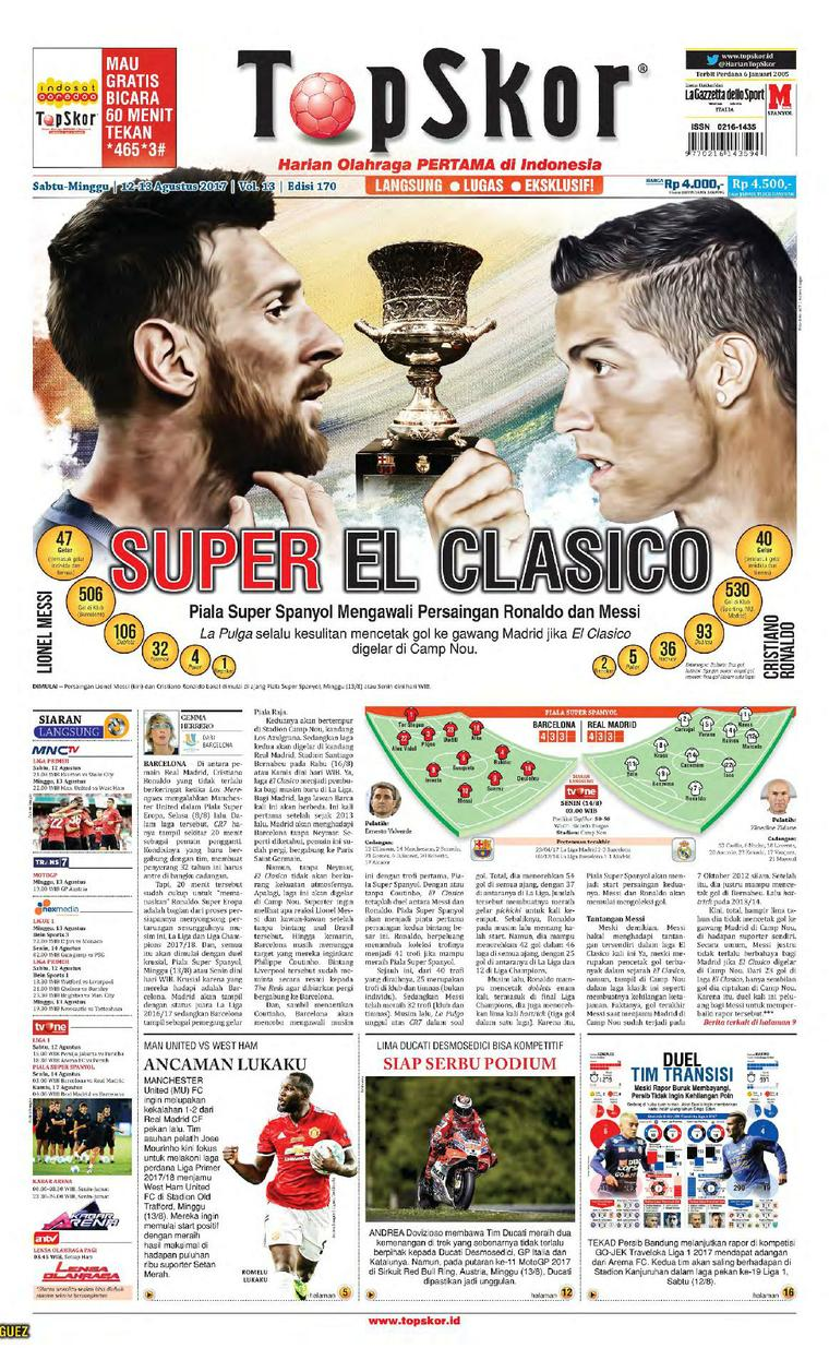 Koran Digital Top Skor 12 Agustus 2017