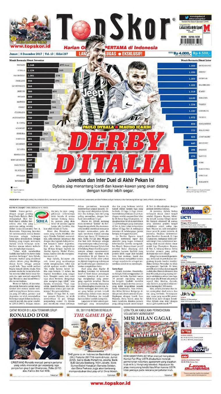 Koran Digital Top Skor 08 Desember 2017