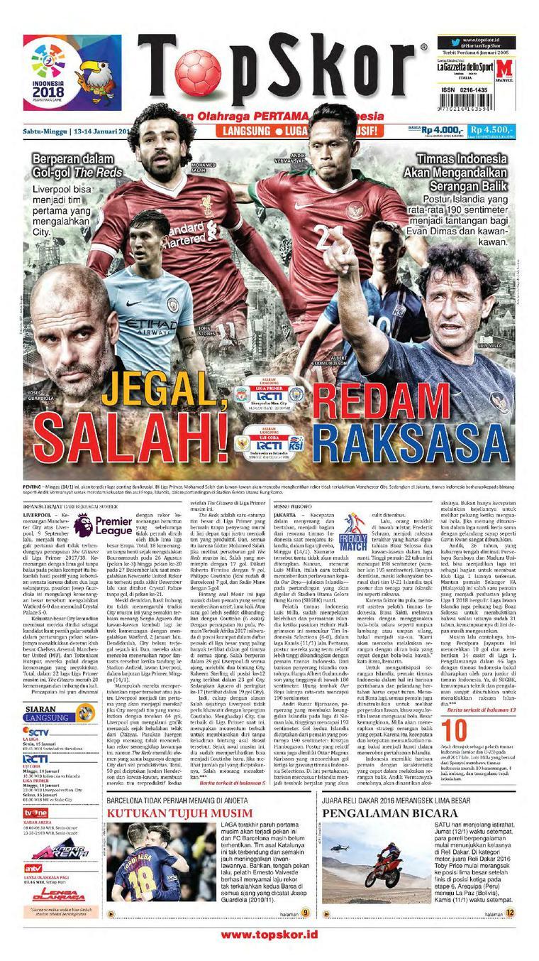 Koran Digital Top Skor 13 Januari 2018