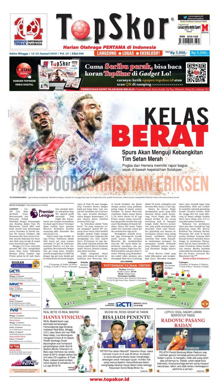 Top Skor Digital Newspaper 12 January 2019