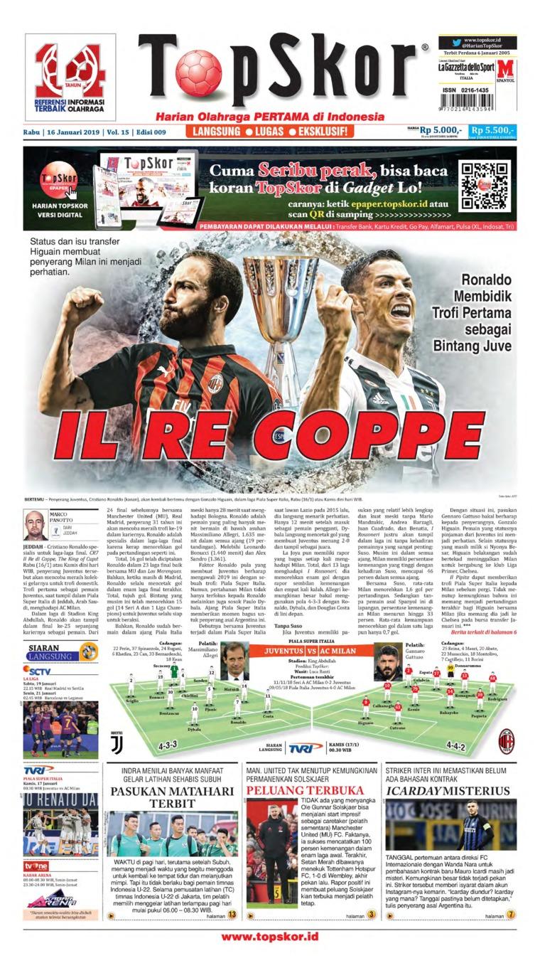 Koran Digital Top Skor 16 Januari 2019