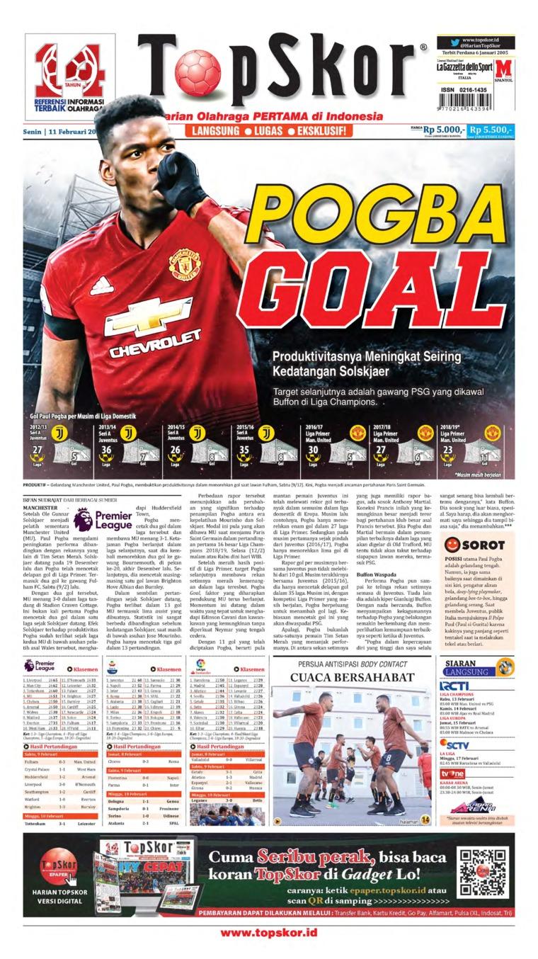 Top Skor Digital Newspaper 11 February 2019