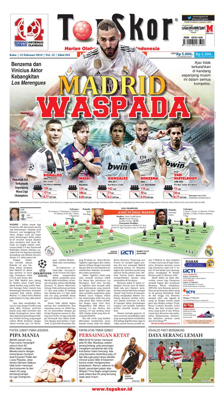 Top Skor Digital Newspaper 13 February 2019