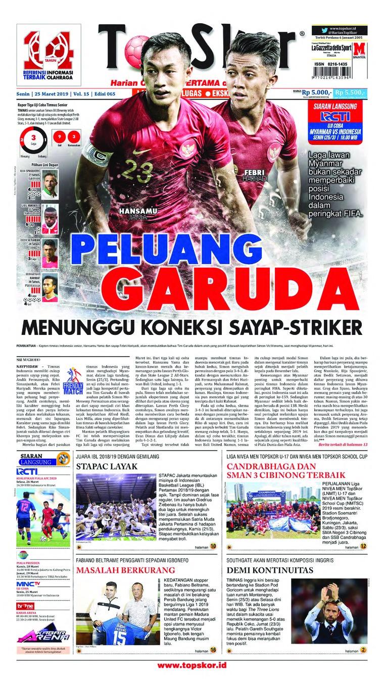Top Skor Digital Newspaper 25 March 2019