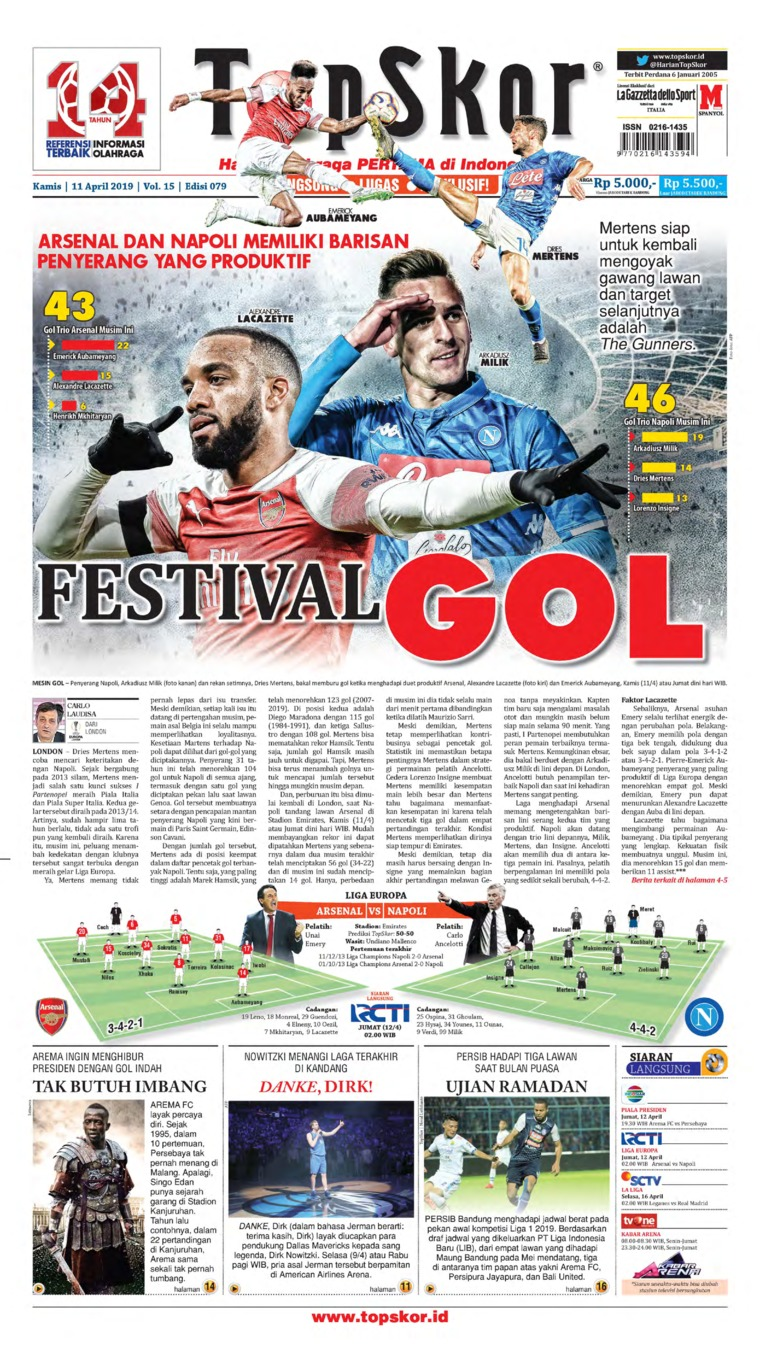 Top Skor Digital Newspaper 11 April 2019