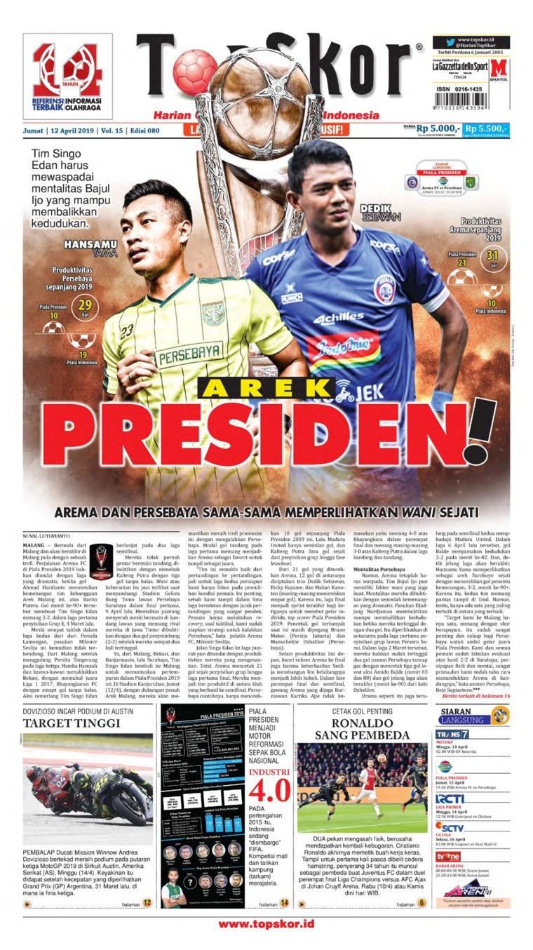 Koran Digital Top Skor 12 April 2019