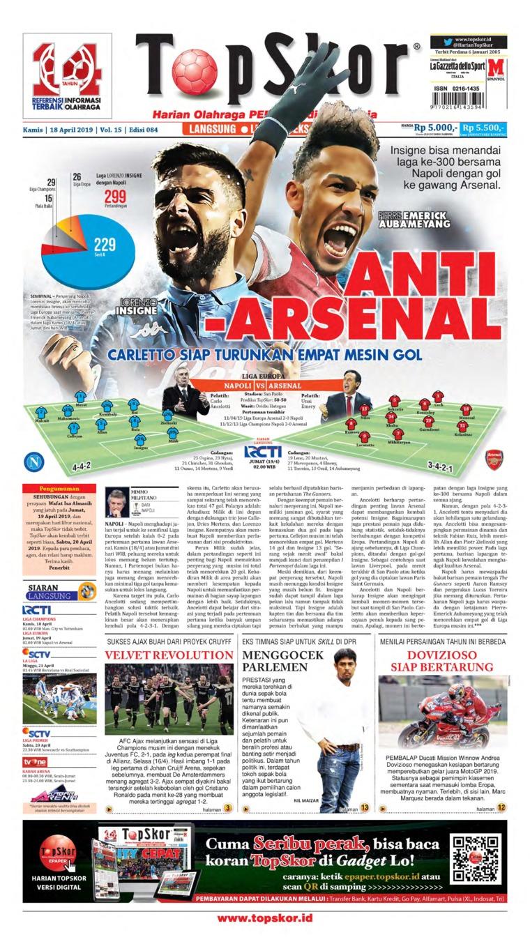 Top Skor Digital Newspaper 18 April 2019