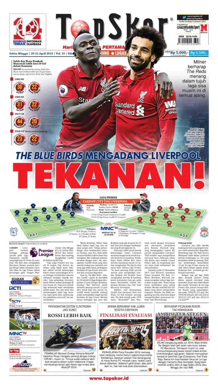 Top Skor Digital Newspaper 20 April 2019