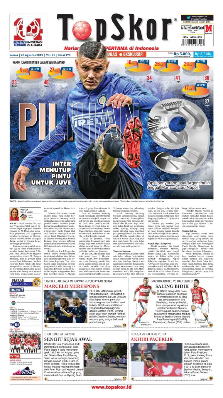 Top Skor Digital Newspaper 20 August 2019