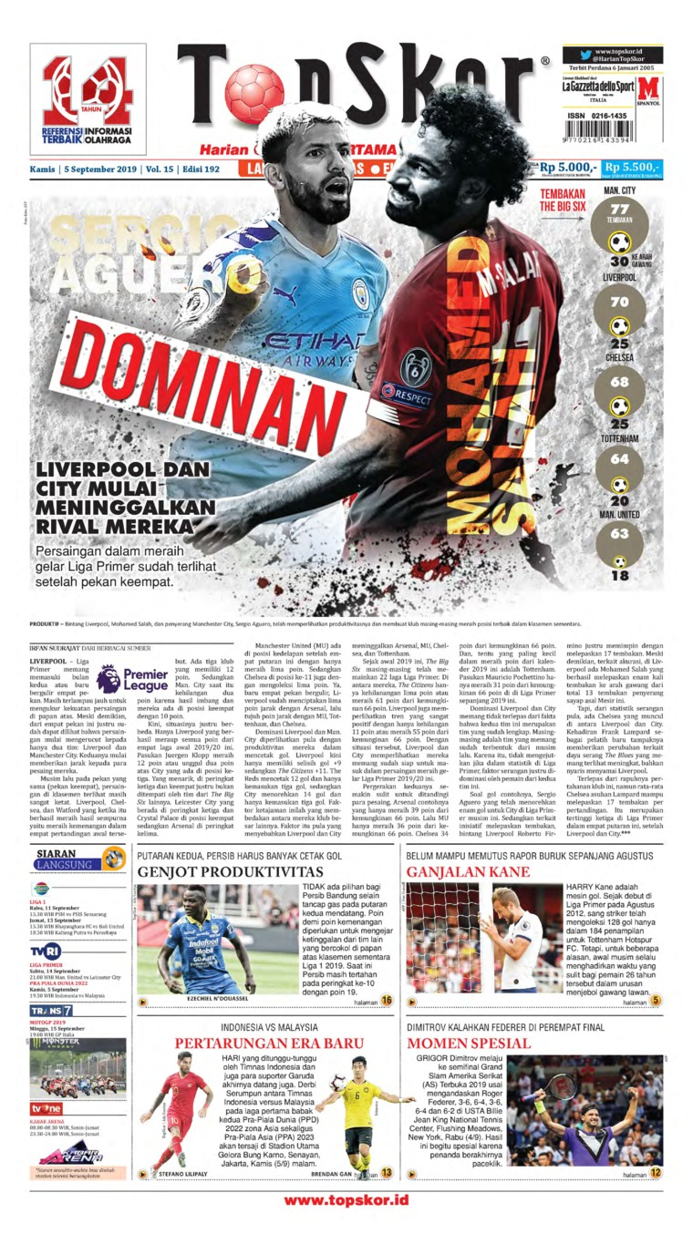 Koran Digital Top Skor 05 September 2019