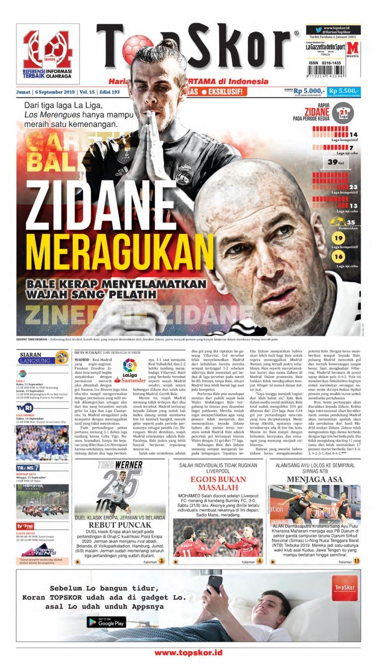 Koran Digital Top Skor 06 September 2019