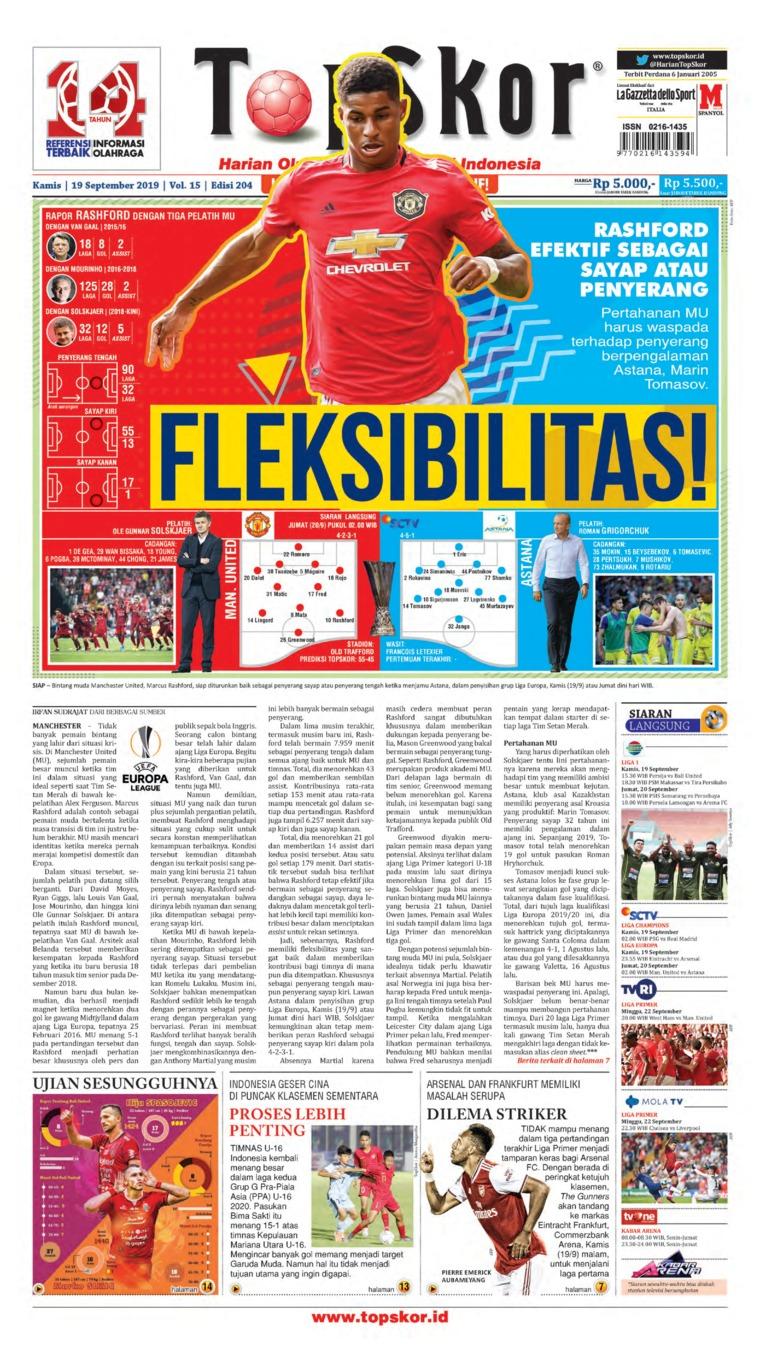Top Skor Digital Newspaper 19 September 2019