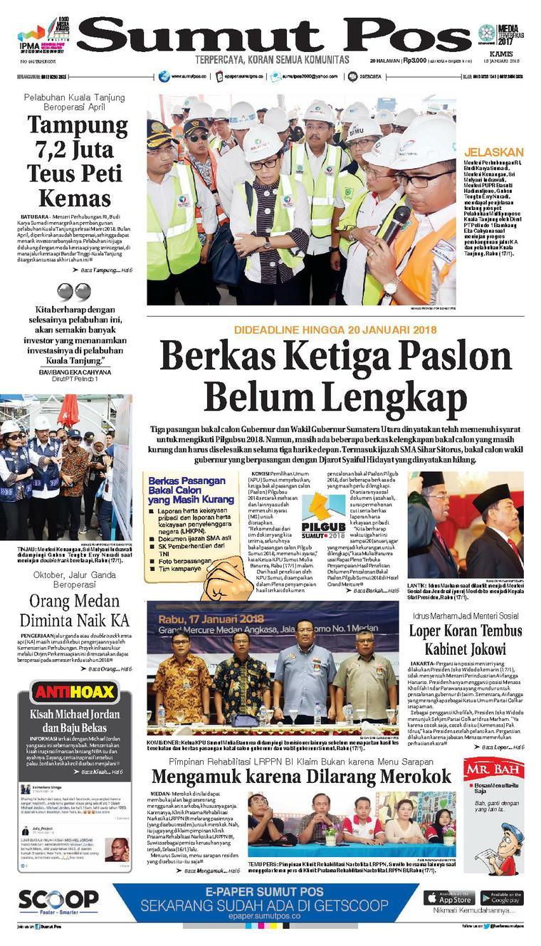 Koran Digital SUMUT POS 18 Januari 2018