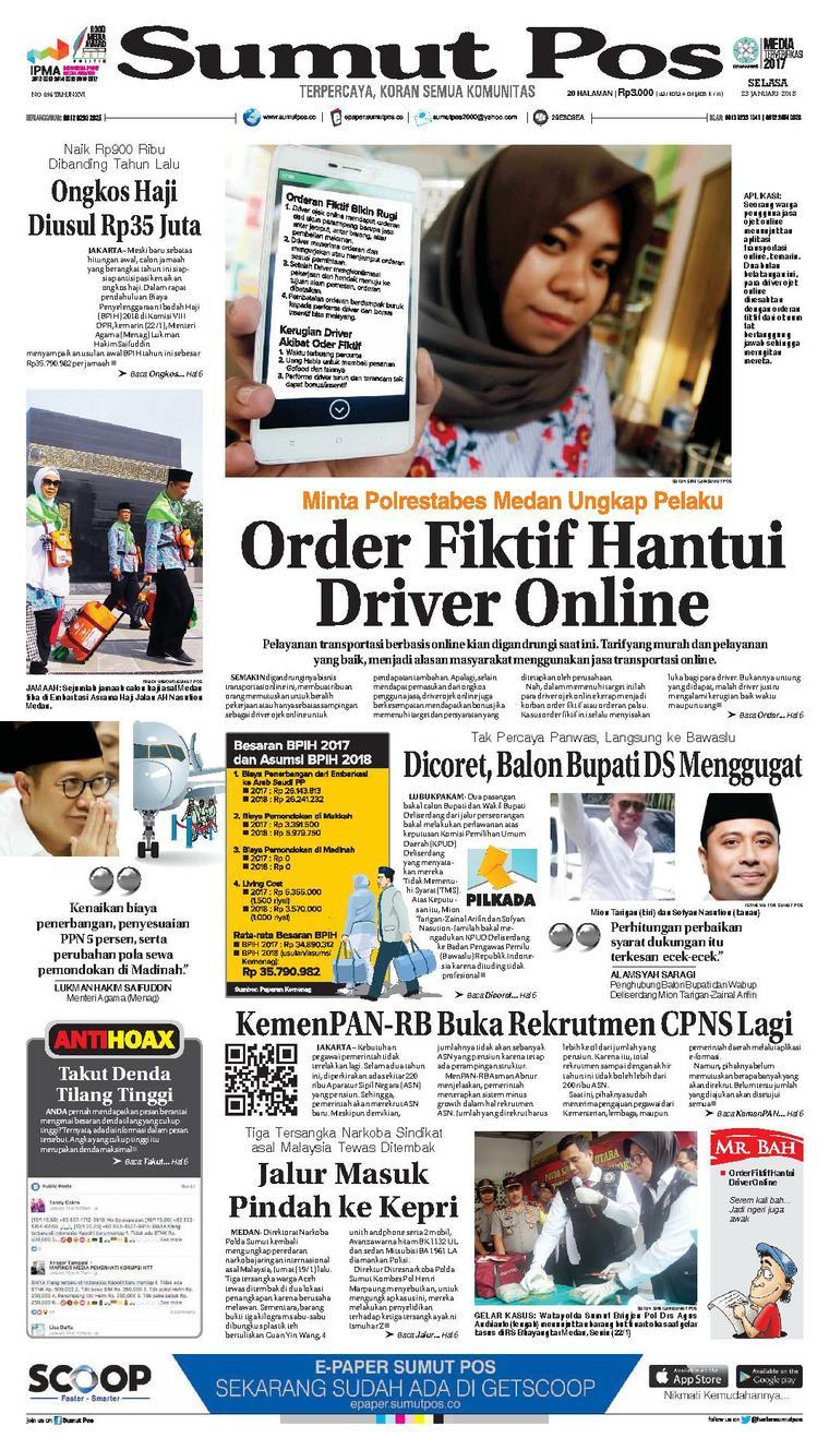 Koran Digital SUMUT POS 23 Januari 2018