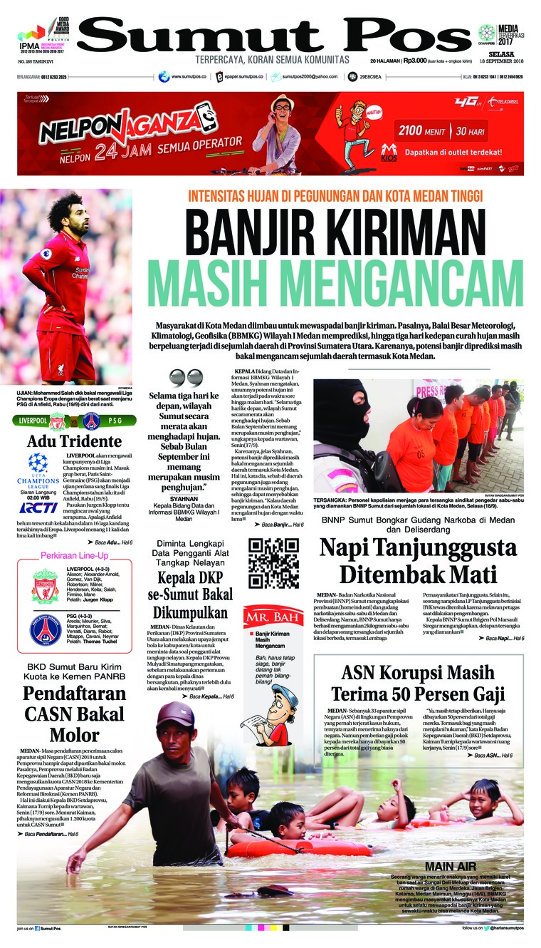 Koran Digital SUMUT POS 18 September 2018