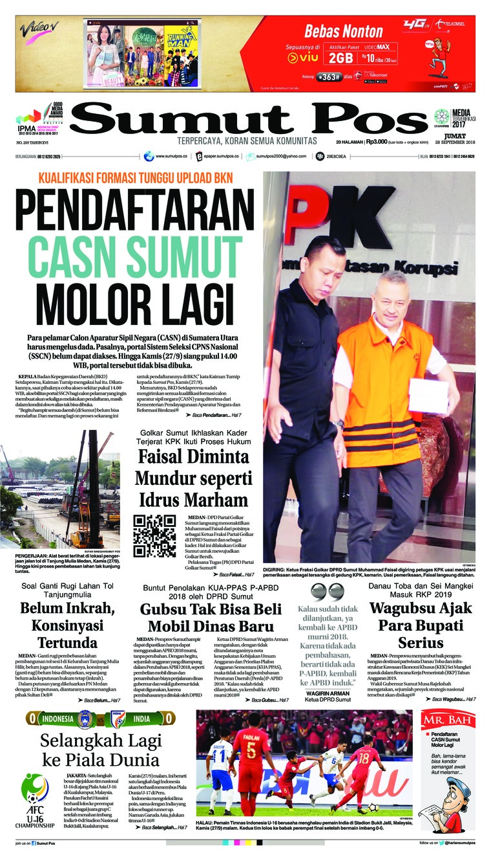 Koran Digital SUMUT POS 28 September 2018
