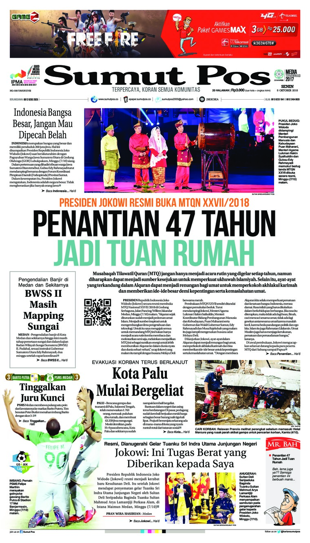 Koran Digital SUMUT POS 08 Oktober 2018
