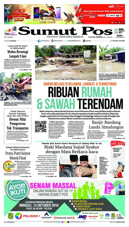Koran Digital SUMUT POS 11 Oktober 2018