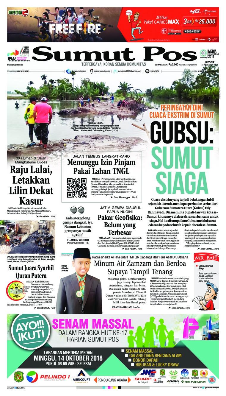 Koran Digital SUMUT POS 12 Oktober 2018