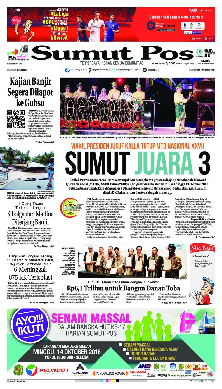 Koran Digital SUMUT POS 13 Oktober 2018