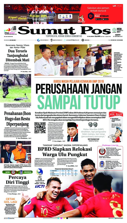 Koran Digital SUMUT POS 20 Oktober 2018