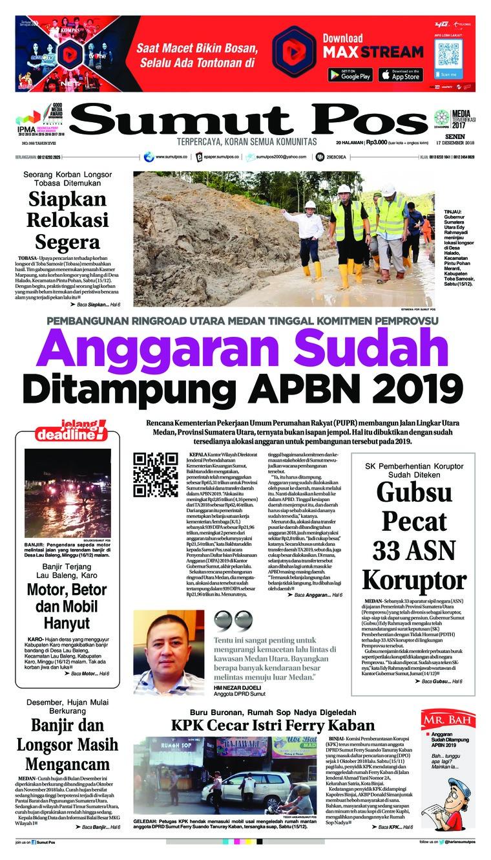 SUMUT POS Digital Newspaper 17 December 2018
