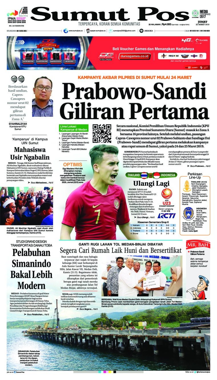 Koran Digital SUMUT POS 22 Maret 2019