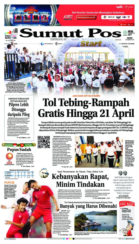 SUMUT POS Digital Newspaper 25 March 2019