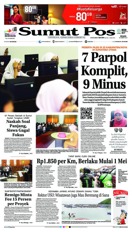 Koran Digital SUMUT POS 26 Maret 2019