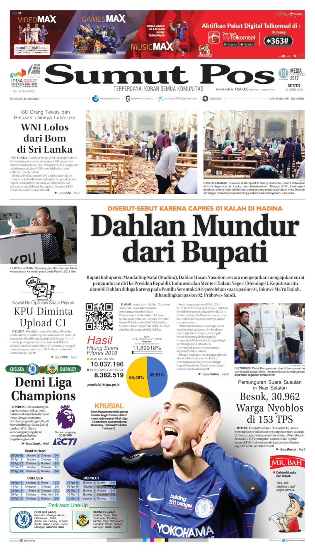 SUMUT POS Digital Newspaper 22 April 2019