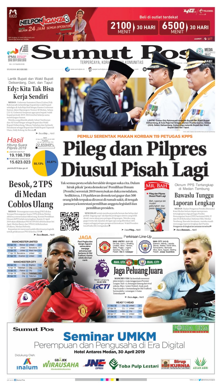 SUMUT POS Digital Newspaper 24 April 2019