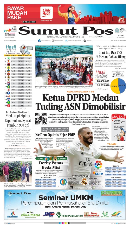 SUMUT POS Digital Newspaper 25 April 2019