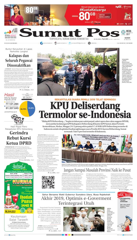 SUMUT POS Digital Newspaper 20 May 2019