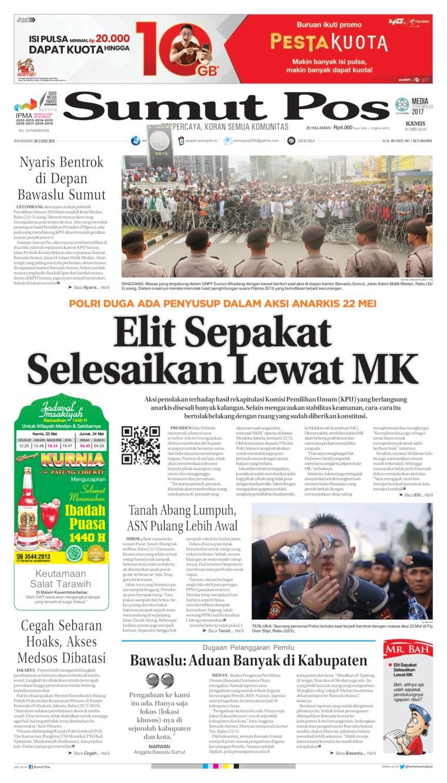 SUMUT POS Digital Newspaper 23 May 2019