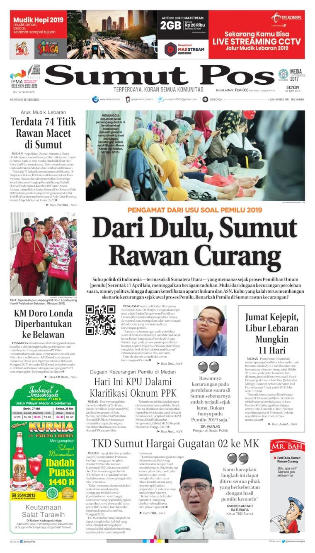 SUMUT POS Digital Newspaper 27 May 2019