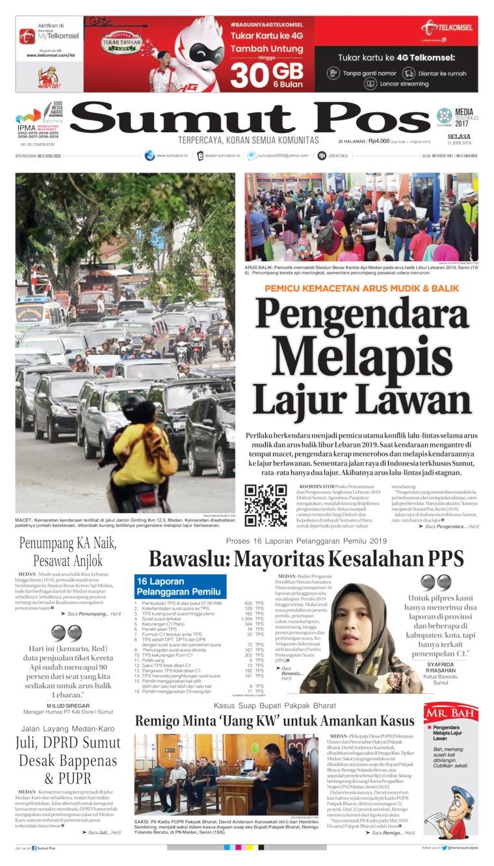 Koran Digital SUMUT POS 11 Juni 2019