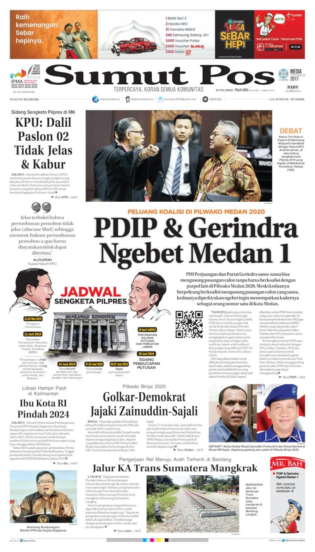 SUMUT POS Digital Newspaper 19 June 2019