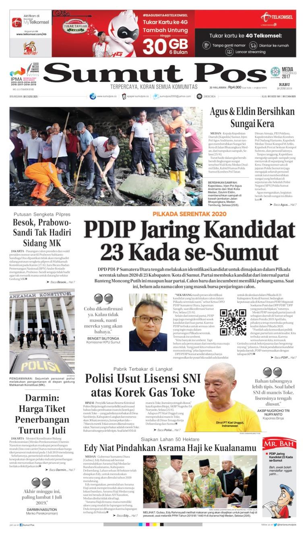 SUMUT POS Digital Newspaper 26 June 2019