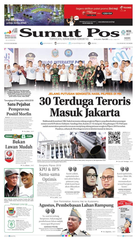 Koran Digital SUMUT POS 27 Juni 2019