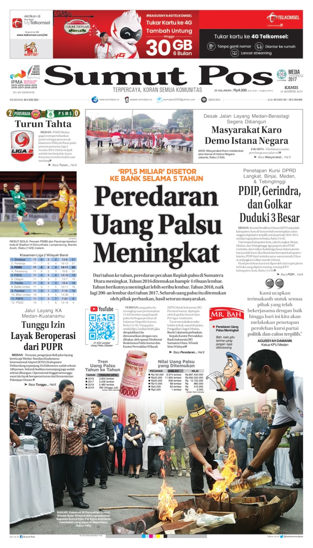 Koran Digital SUMUT POS 15 Agustus 2019